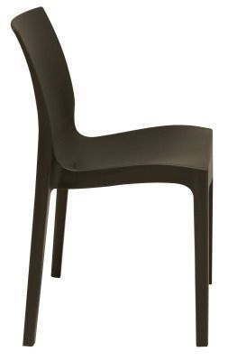 Presto Contemporary Poly Chair In Black From The Side