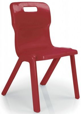 Titan One Piece Poly Chair In Red