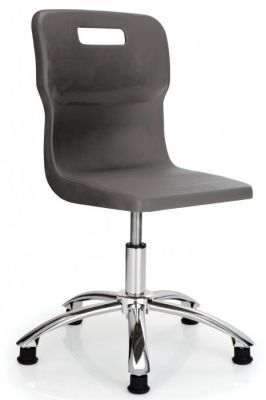 Titan Poly Swivel Chair In Black