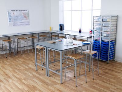 Series 25 Stacking High Stool In A School