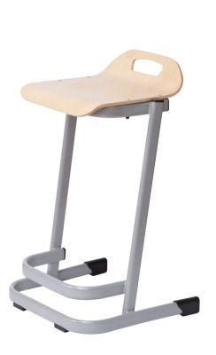35 Series High Stool In Beech Angled View