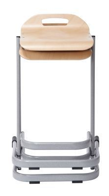 35 Series High Stools Stack In Beech