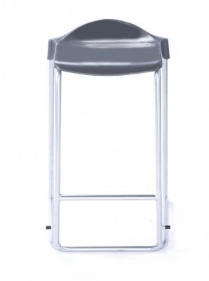 WSM Laboratory Stool In Grey From The Front