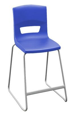 Postura Plus High Stool In Blue