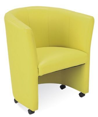 Club Mustard Yellow Tub Chair In Faux Leather