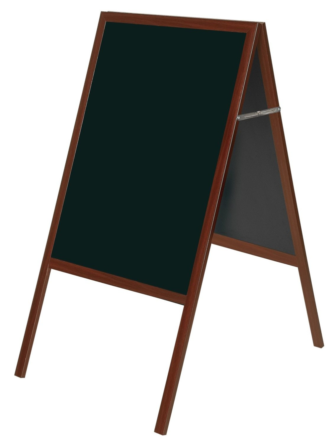 An image of Bio A Frame Chalk Board with a Cherry Wood Frame - Blackboards