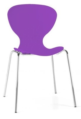 Piazza Poly Chair In Purple