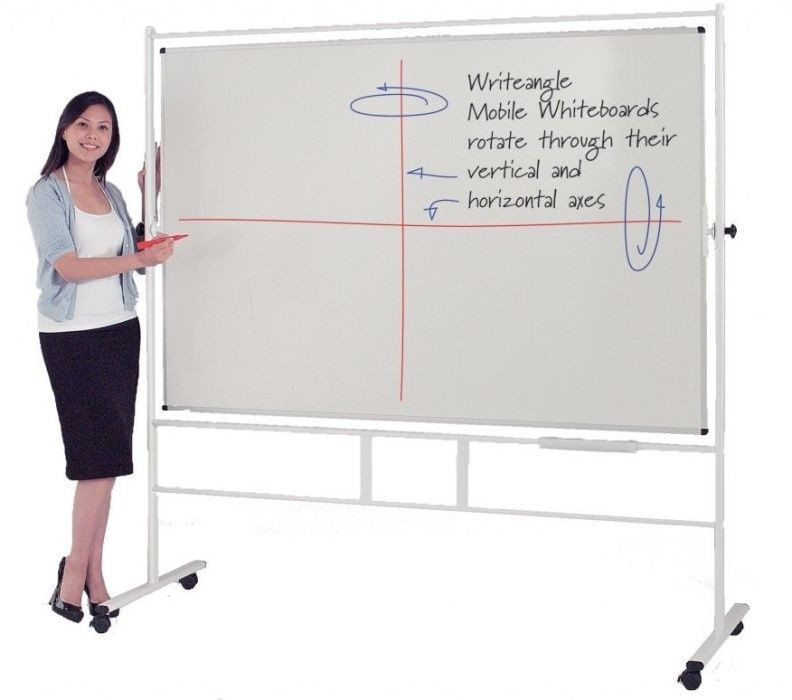 An image of Write-Angle Revolving Dry Wipe Whiteboard - Whiteboards