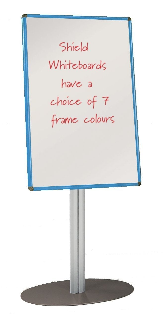 An image of Shield Free Standing Whiteboard - Whiteboards