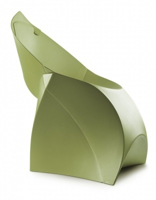 Flux Junior Chair In Green Side View