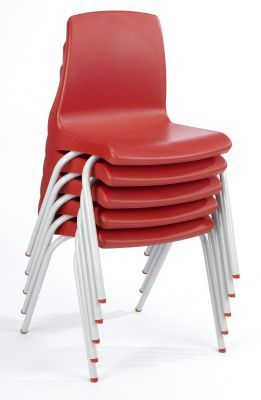 Nemus Red Classroom Chair Stacked
