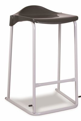 Adl Stackable Stools Black Seat