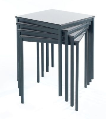 Ms Square Fully Welded Classroom Tables Stacked