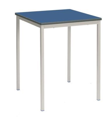 Ms Fully Welded Table With A Blue Top