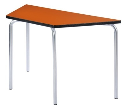 Equatiion Trapezoidal Classroom Table With An Orange Top