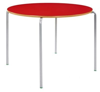 Ms Circular Crush Bent Tables Red Top