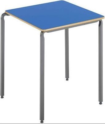 Ms Square Crush Bent Classroom Tables Blue Top