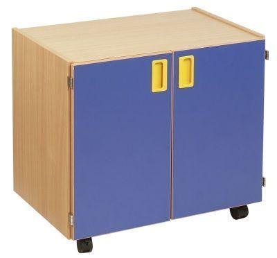 Smartie 12 Mobile Classroom Storage Cupboard With Blue Doors