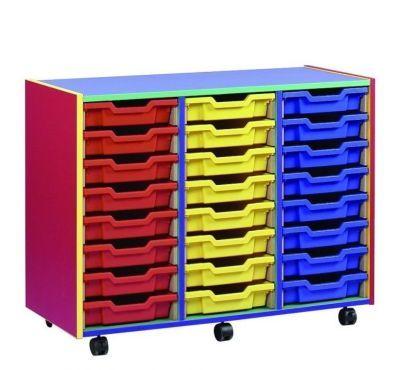 Colour My World Multi Coloured 24 Shallow Tray Unit