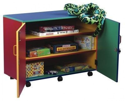 An image of Colour My World Cupboard with 2 Adjustable Shelves - Coloured Stor...