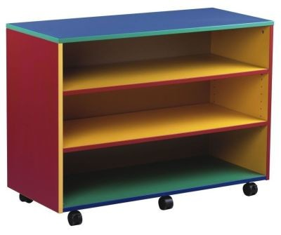 An image of Colour My World Mobile Open Storage Unit - Coloured Storage