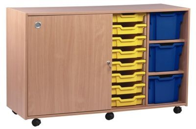 Multi Tray Storage Unit 1 With Lockabe Door