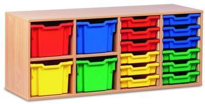Multi Coloured Stackable Combi Education Storage Unit
