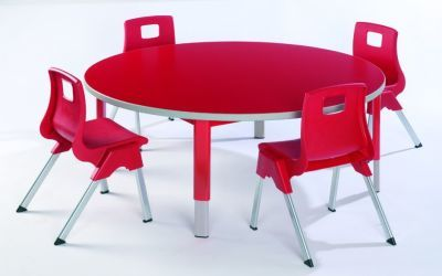 Start Right Round Height Adjustable Classroom Tables And Chairs
