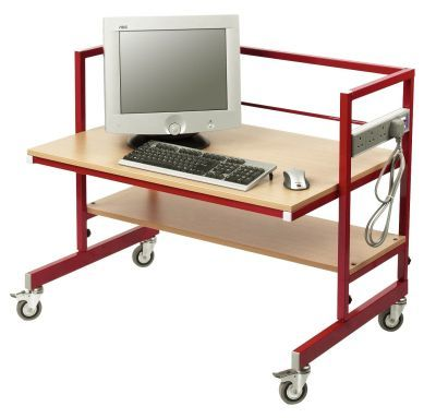 CL-Height-Adjustable-Single-Tier-Mobile-Computer-Trolley-compressor
