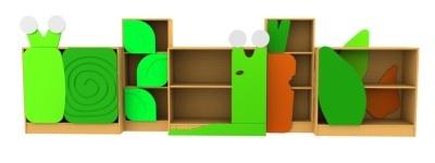 Slugs And Snails Bookcase Set