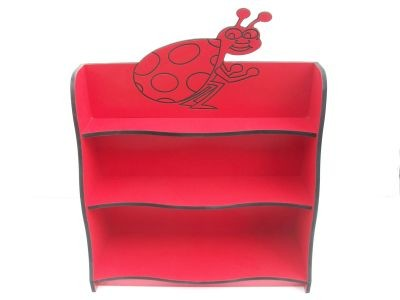 """An image of """"Lizzie Ladybird"""" Shelving Unit - Themed Storage"""