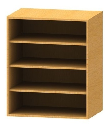 Wall Mounted Bookcase 2