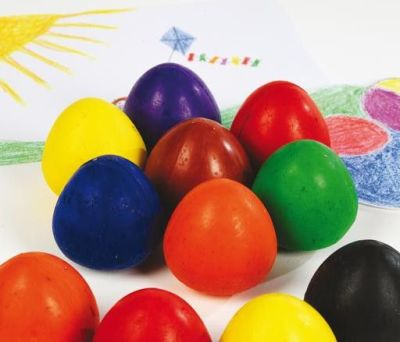 Eight Cubbi Crayon Eggs Compressed