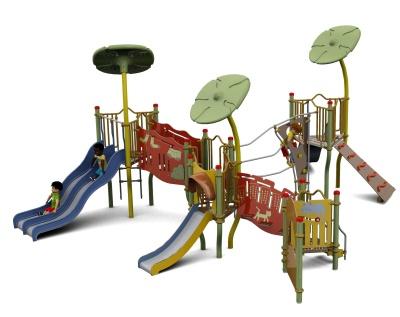 Piccollo Three Twower Outdoor Playcentre S
