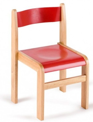 GM Wooden Classroom Chairs Red