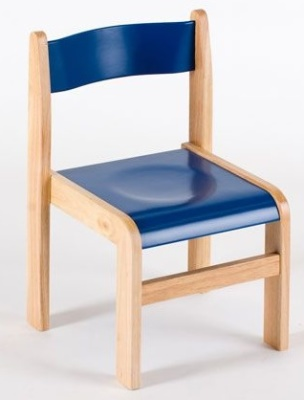Gm Wooden Classroom Chairs In Blue