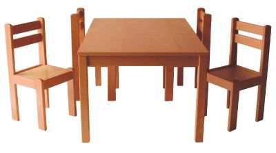 Forest Solid Wooden Classroom Table