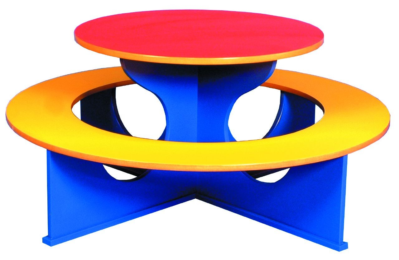 An image of Rainbow Primary Circular  Tables - School Dining Tables