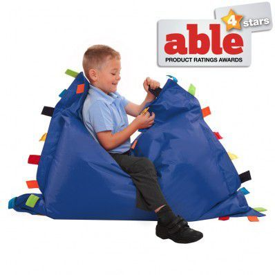 Sensory Touch Tag Bean Bag Floor Cushion