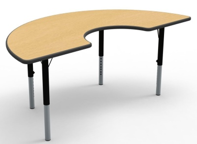 Arc Theme Heigt Adjustable Table Beech Top