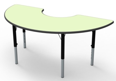 Thene Arc Heigt Adjustable Table Pastel Green Top