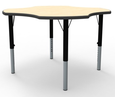Clover Height Adjustable Modular Classroom Table With A Maple Top