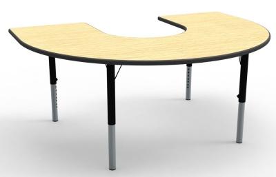 Horseshow Height Adjustable Classroom Table