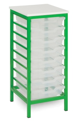 MZ 8 Tray Static Metal Storage