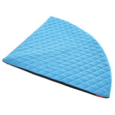 Corner Quilted Floor Mat In Blue