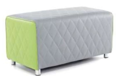 Sayu Two Seater Bench Lime Green And Grey