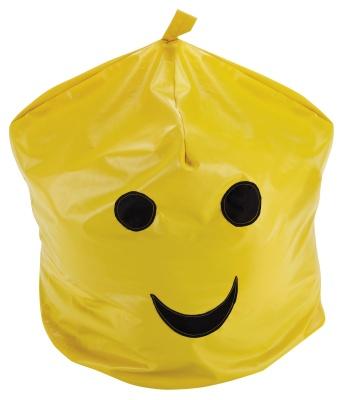 Wide Guy Happy Cushion Bag Closed