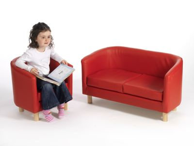 Werstfield Tub Chair And Sofa Red