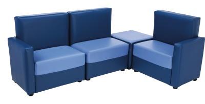Roma Corner Seating Set Blue