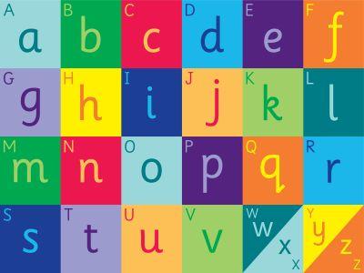 Rainbow Alpabet Carpet Graphic